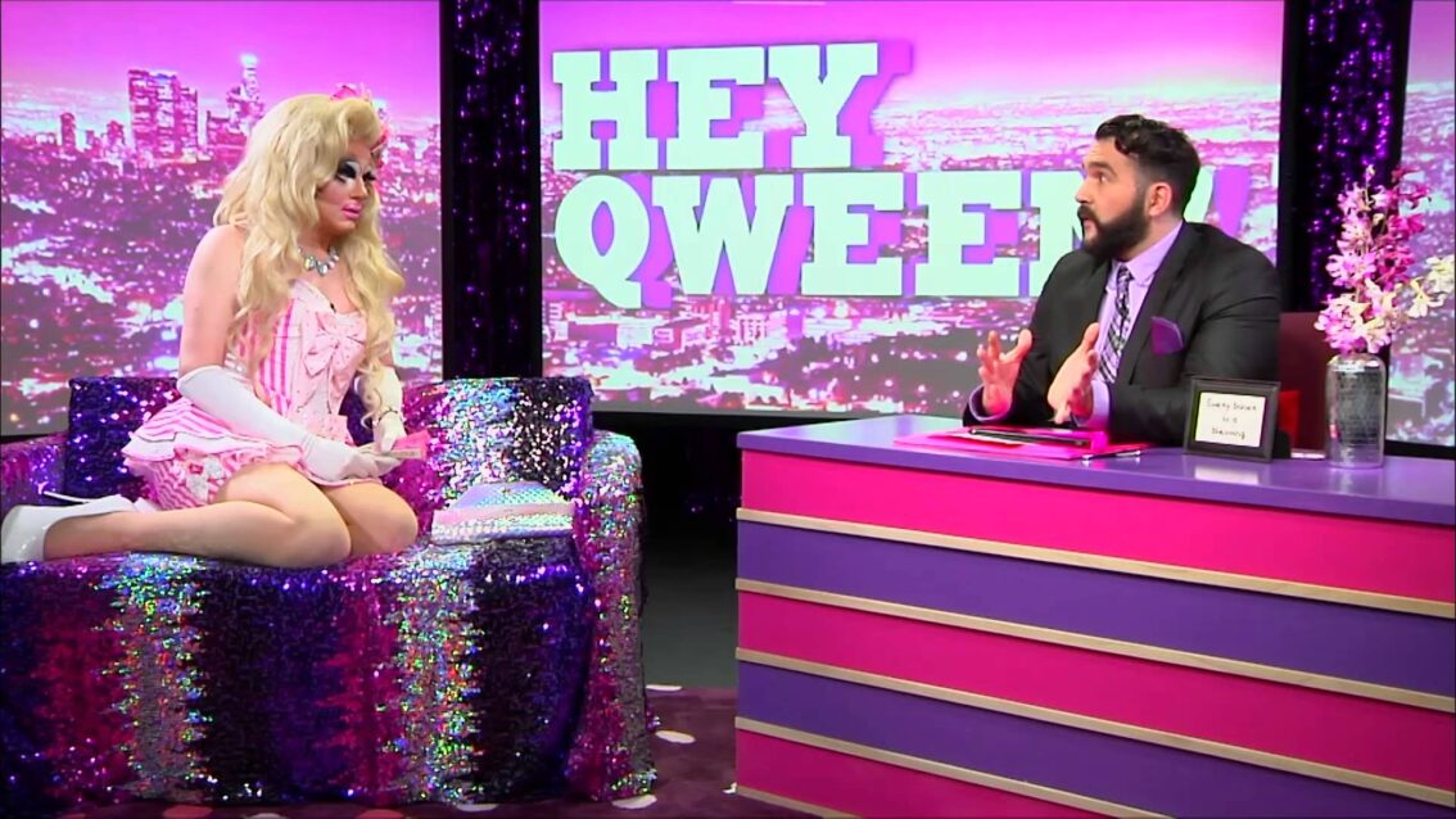 Mitch Vaughn's Famous Explosive Cum Shot: Hey Qween! Highlights