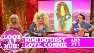 Mimi Imfurst and Love, Connie: Look at Huh SUPERSIZED Pt 1 on Hey Qween! with Jonny McGovern Photo