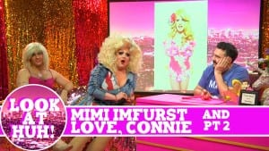 Mimi Imfurst and Love, Connie: Look at Huh SUPERSIZED Pt 2 on Hey Qween! with Jonny McGovern Photo