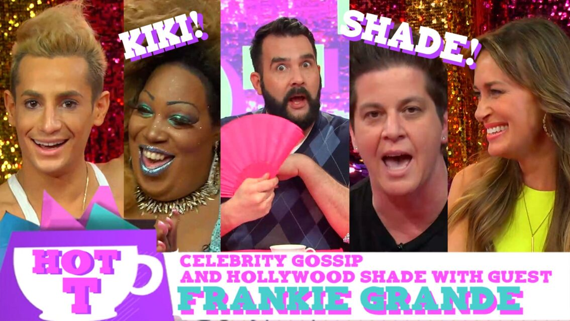 Frankie Grande on HOT T: Celebrity Gossip & Hollywood Shade Season 2 Episode 2