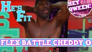 Andrew Christian Model Cheddy O on He's Fit! EXTENDED FLEX BATTLE Photo