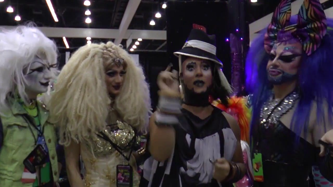 Fierce Queenz at DragCon with Roving Reporter Erickatoure Aviance
