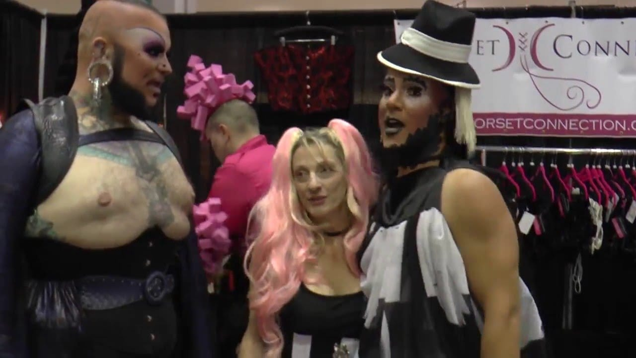 Corset Connection at DragCon with Roving Reporter Erickatoure Aviance