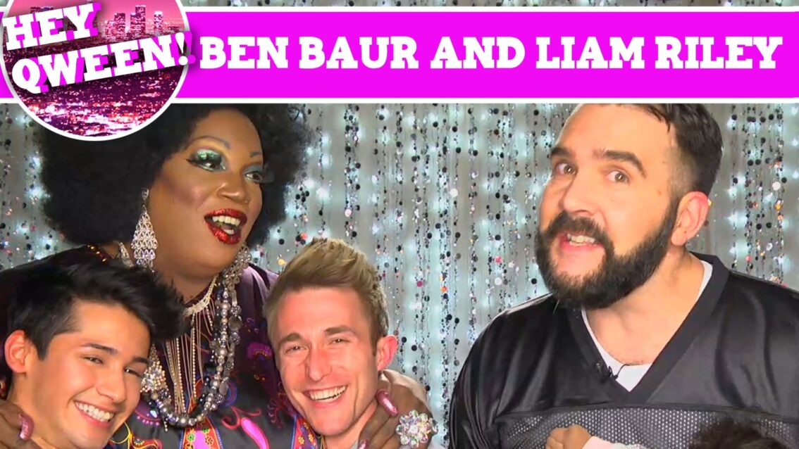 Cockyboys' Liam Riley and Actor Ben Baur on Hey Qween with Jonny McGovern PROMO!