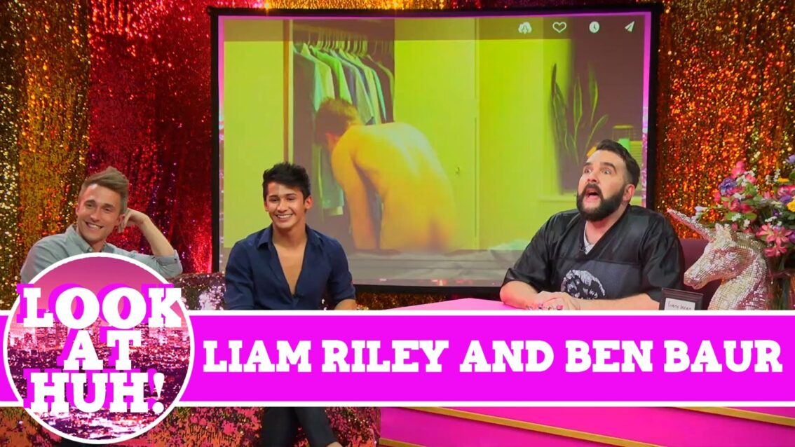 Cockyboys' Liam Riley and Actor Ben Baur on Look at Huh on Hey Qween! with Jonny McGovern