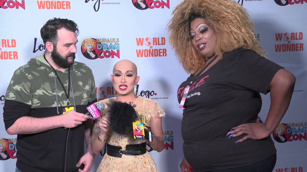 Ongina from Rupaul's Drag Con 2016 on Hey Qween Live