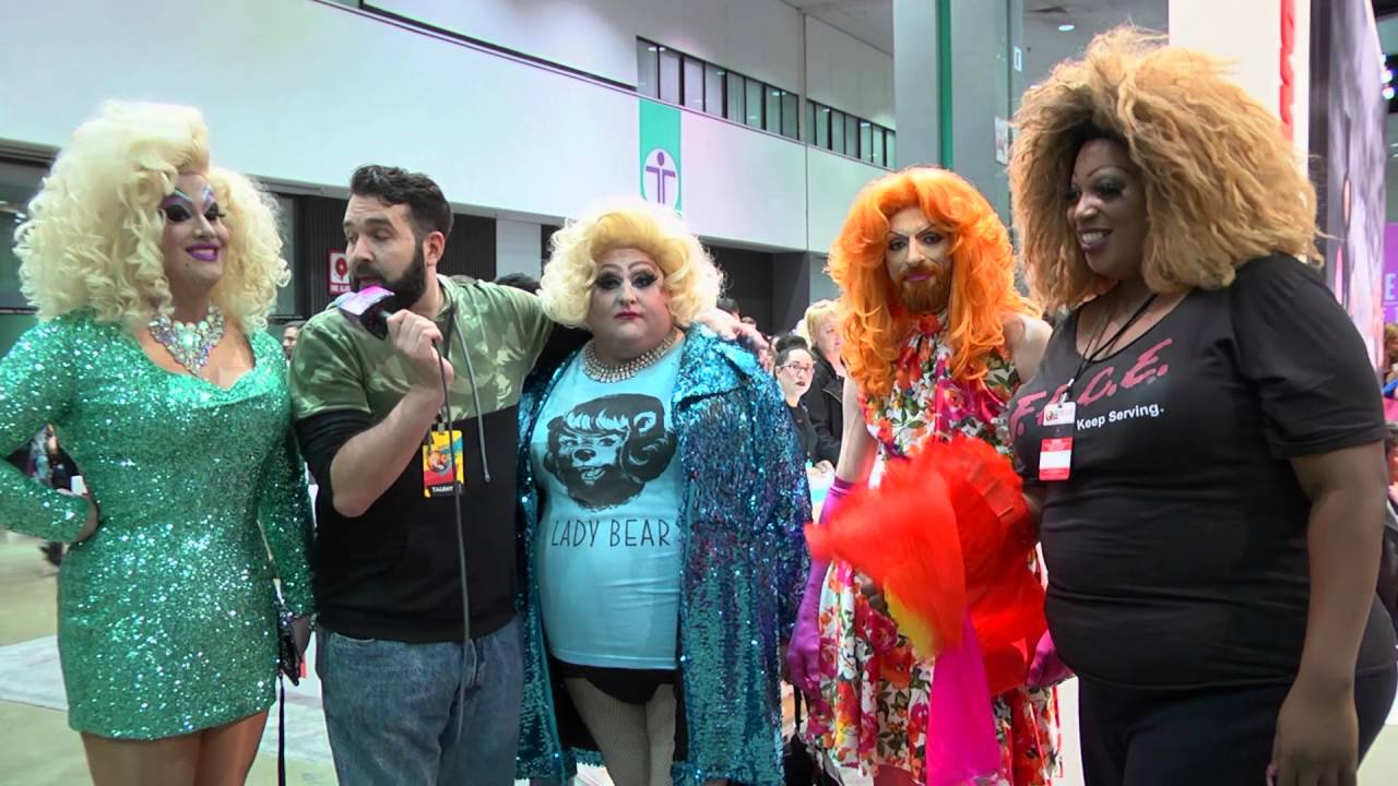 Peaches Christ & Lady Bear from Rupaul's Drag Con 2016 on Hey Qween Live