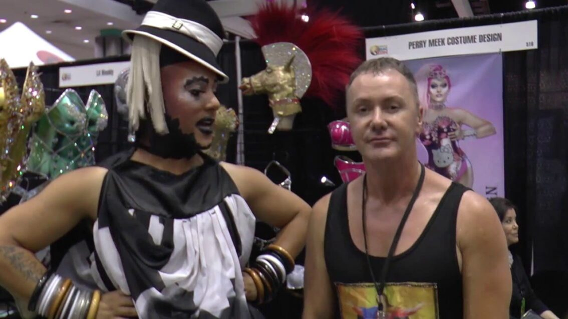 Perry Costumes at DragCon with Roving Reporter Erickatoure Aviance