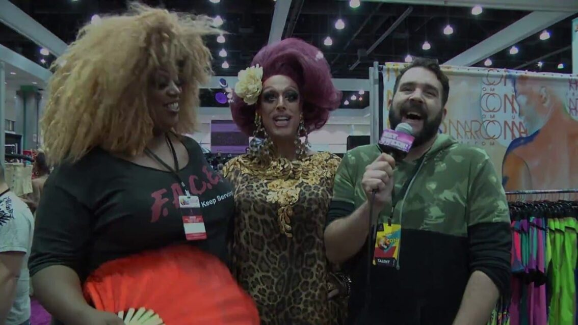 Tempest DuJour at Rupaul's DragCon 2016 on Hey Qween Live