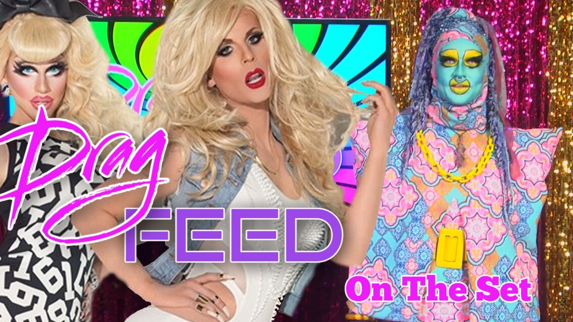 "KATYA AND TRIXIE MATTEL ON HEY QWEEN! with Valentine Anger ""On The Set"" 