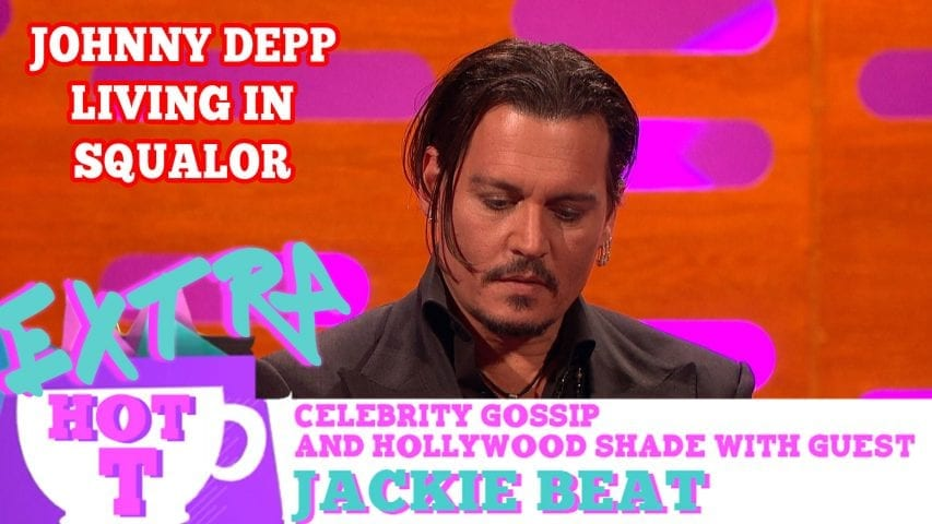 Johnny Depp Living In Squalor?: Extra Hot T with Jackie Beat Photo