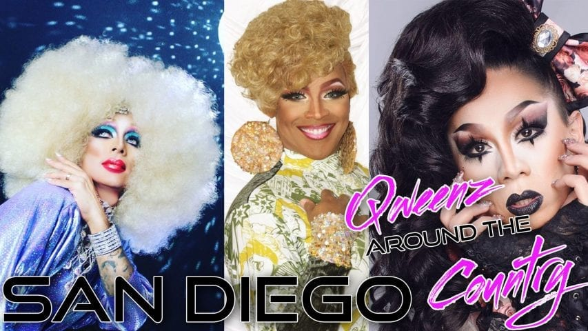 SAN DIEGO Drag Queens on QWEENS AROUND THE COUNTRY with Erickatoure Photo