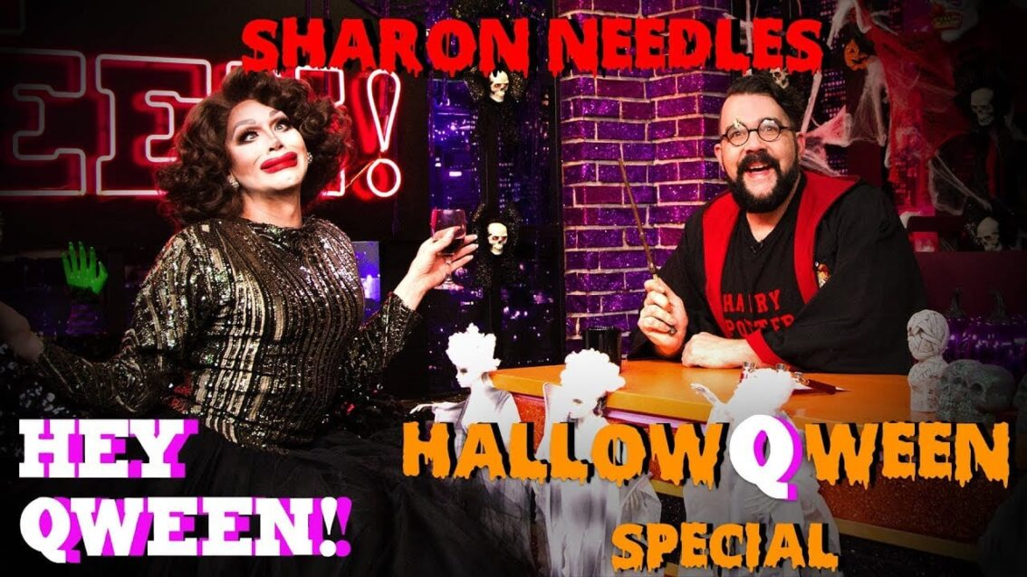 Sharon Needles on The Hey Qween! HalloQween Special With Jonny McGovern Cover
