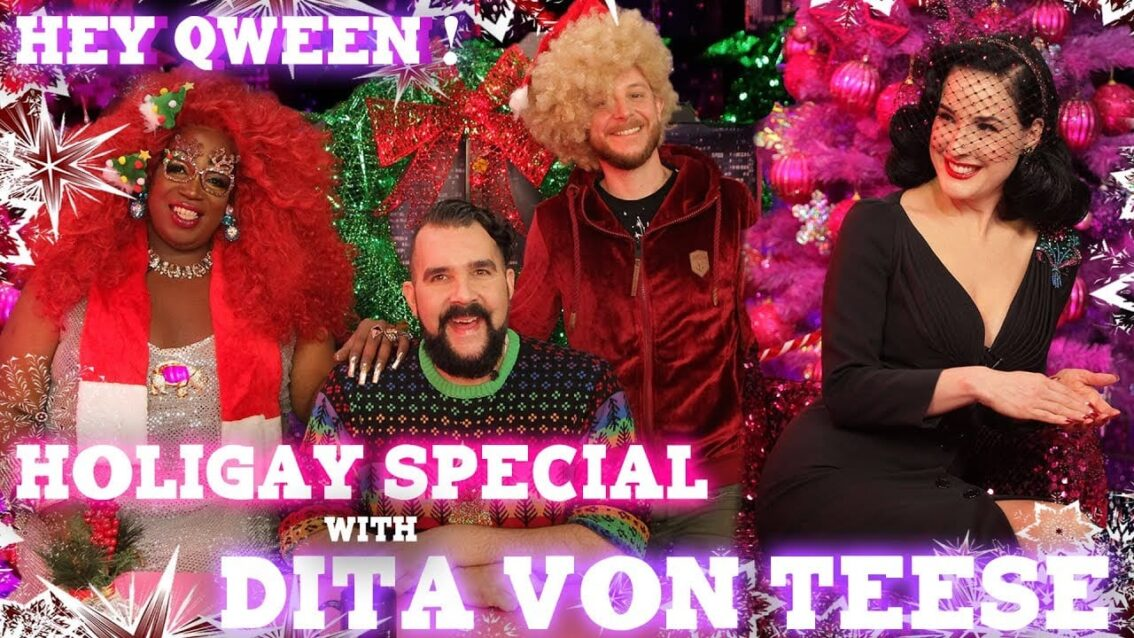Dita Von Teese on the Hey Qween! HoliGay Special Cover