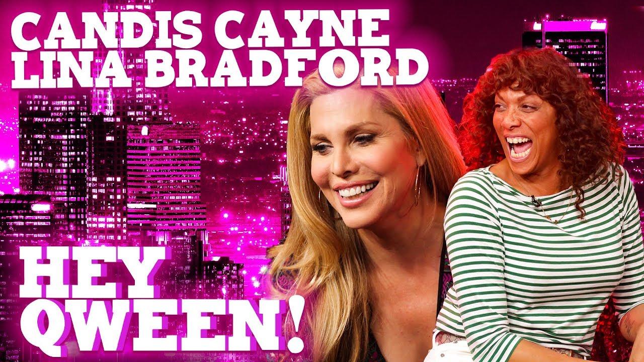 CANDIS CAYNE and LINA BRADFORD on Hey Qween! with Jonny McGovern