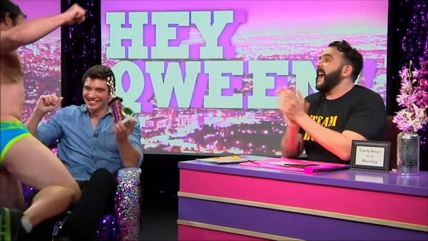 Hey Qween! BONUS: Steve Grand Gets A Lap Dance